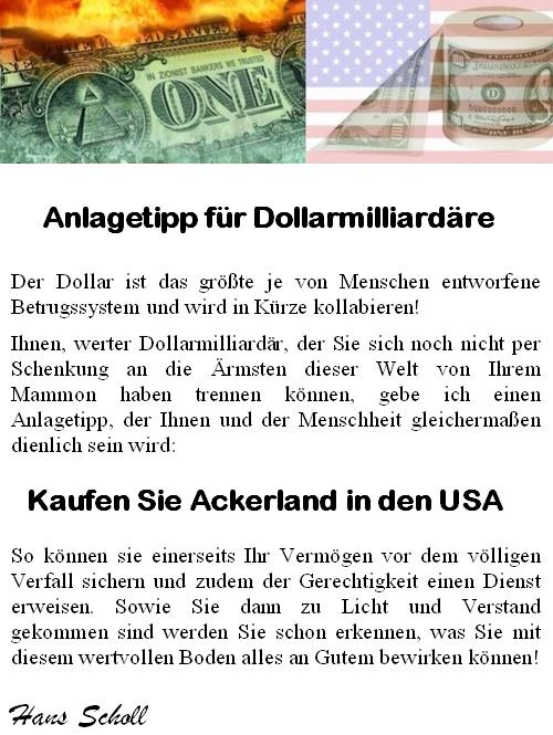 Anlagetipp für Dollarmilliardäre