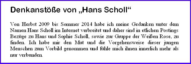Denkanstöße von Hans Scholl