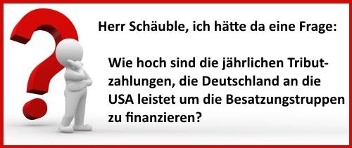 Frage an Schäuble