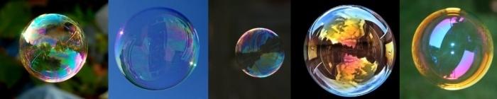 Transparent wie Seifenblasen