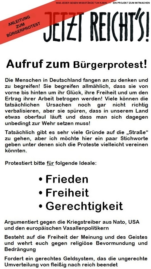 Bürgerprotest 2015