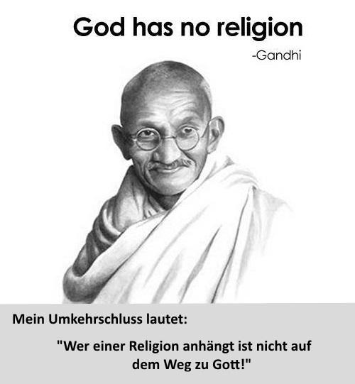 Umkehrschluss zu Gandhi