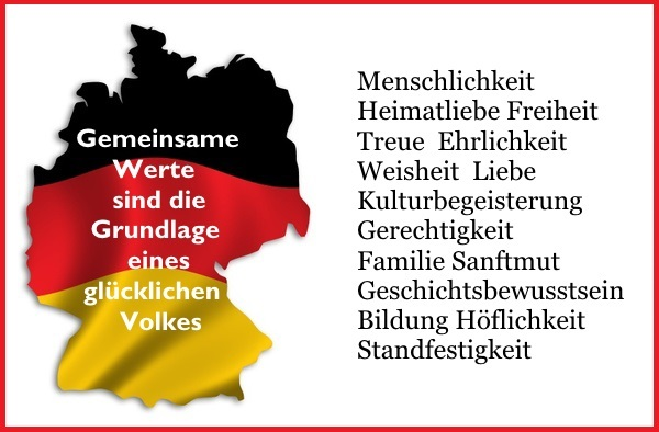 Outline of Germany filled with german flag - includes clipping path (without drop shadow)